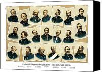 Civil War Painting Canvas Prints - Union Commanders of The Civil War Canvas Print by War Is Hell Store
