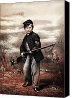 Civil War Painting Canvas Prints - Union Drummer Boy John Clem Canvas Print by War Is Hell Store