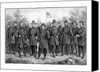 United States Drawings Canvas Prints - Union Generals of The Civil War  Canvas Print by War Is Hell Store