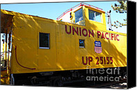 Old Caboose Canvas Prints - Union Pacific Caboose - 5D19205 Canvas Print by Wingsdomain Art and Photography