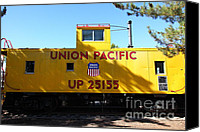 Old Caboose Canvas Prints - Union Pacific Caboose - 5D19206 Canvas Print by Wingsdomain Art and Photography