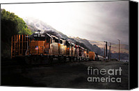 Boxcar Canvas Prints - Union Pacific Locomotive at Sunrise . 7D10561 Canvas Print by Wingsdomain Art and Photography