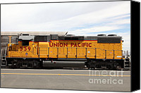 Boxcar Canvas Prints - Union Pacific Locomotive Train - 5D18648 Canvas Print by Wingsdomain Art and Photography