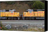 Santa Fe Canvas Prints - Union Pacific Locomotive Trains . 7D10573 Canvas Print by Wingsdomain Art and Photography