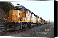 Santa Fe Canvas Prints - Union Pacific Locomotive Trains . 7D10586 Canvas Print by Wingsdomain Art and Photography