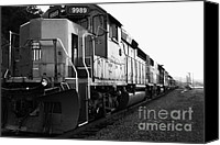 Santa Fe Canvas Prints - Union Pacific Locomotive Trains . 7D10588 . black and white Canvas Print by Wingsdomain Art and Photography