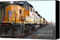 Santa Fe Canvas Prints - Union Pacific Locomotive Trains . 7D10588 Canvas Print by Wingsdomain Art and Photography