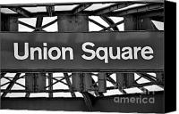 Subway Station Photo Canvas Prints - Union Square  Canvas Print by Susan Candelario