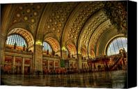 D.c. Photo Canvas Prints - Union Station - DC Canvas Print by Frank Garciarubio