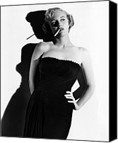 1950 Movies Photo Canvas Prints - Union Station, Jan Sterling, 1950 Canvas Print by Everett