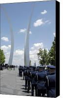 Commemorating Canvas Prints - United States Honor Guards Stand Canvas Print by Stocktrek Images