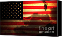 Fourth Of July Photo Canvas Prints - United States of America . Land of The Free Canvas Print by Wingsdomain Art and Photography
