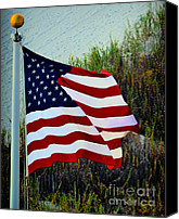 Flag Pole Canvas Prints - United States of America Canvas Print by Gerlinde Keating - Keating Associates Inc
