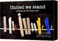 Diversity Canvas Prints - United we stand Canvas Print by Nancy Greenland