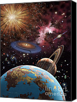 Lynette Cook Canvas Prints - Universe II Canvas Print by Lynette Cook