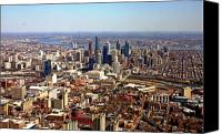 Philadelphia Skyline Canvas Prints - University City Philadelphia Skyline Aerial Canvas Print by Duncan Pearson