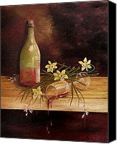 Oil Wine Canvas Prints - Unkept Promise Canvas Print by Laura Brown