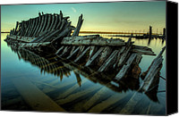 Ribs Canvas Prints - Unknown Shipwreck Canvas Print by Jakub Sisak