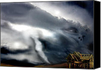 Storm Mixed Media Canvas Prints - Untitled 6 Canvas Print by Chris Gill
