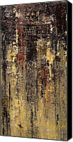 Drips Mixed Media Canvas Prints - Untitled I Canvas Print by Josh Bernstein