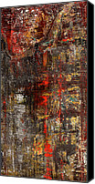 Drips Mixed Media Canvas Prints - Untitled II Canvas Print by Josh Bernstein