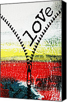 Artyzen Studios Canvas Prints - Unzipping Love Abstract Canvas Print by Anahi DeCanio