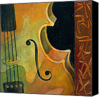 Classical Musical Art Canvas Prints - Up Close and Personal Canvas Print by Susanne Clark
