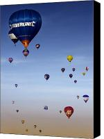 Balloon Fiesta Canvas Prints - Up Up And Away  Canvas Print by Angel  Tarantella
