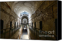 Damp Canvas Prints - Upper Cell Blocks Canvas Print by Paul Ward
