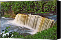 Michigan Waterfalls Canvas Prints - Upper Tahquamenon 6229 Canvas Print by Michael Peychich