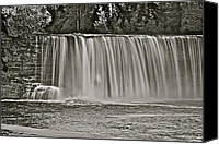 Michigan Waterfalls Canvas Prints - Upper Tahquamenon 6279 Canvas Print by Michael Peychich