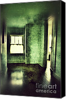 Haunted House Photo Canvas Prints - Upstairs Hallway in Old House Canvas Print by Jill Battaglia