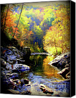 Gatlinburg Canvas Prints - Upstream Canvas Print by Karen Wiles