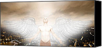 Got Canvas Prints - Urban Angel Canvas Print by Carrie Jackson