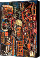 Jon Baldwin Art Canvas Prints - Urban Congestion Canvas Print by Jon Baldwin  Art