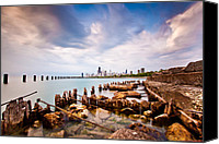 Pier Canvas Prints - Urban Renewal Canvas Print by Daniel Chen