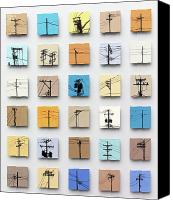 Cities Ceramics Canvas Prints - Urban Sentinels Canvas Print by Jason Messinger