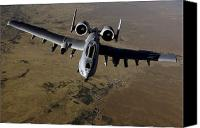 Afghanistan Canvas Prints - U.s. Air Force A-10 Thunderbolt Canvas Print by Stocktrek Images