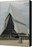 Usaf Canvas Prints - US Air Force Academy Chapel 2 Canvas Print by Tim Mulina
