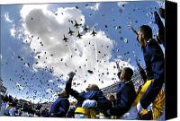 Ceremony Canvas Prints - U.s. Air Force Academy Graduates Throw Canvas Print by Stocktrek Images