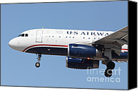Airways Canvas Prints - US Airways Jet Airplane  - 5D18394 Canvas Print by Wingsdomain Art and Photography
