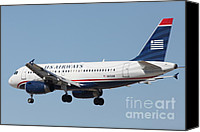 Airways Canvas Prints - US Airways Jet Airplane  - 5D18396 Canvas Print by Wingsdomain Art and Photography