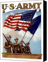 Flag Digital Art Canvas Prints - US Army Guardian Of The Colors Canvas Print by War Is Hell Store