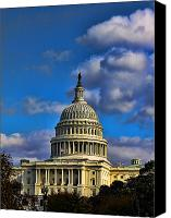 Washington Dc Canvas Prints - US Capital  Canvas Print by Brian Governale