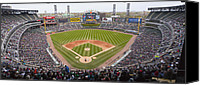 White Sox Canvas Prints - US Cellular Field Chicago Illinois Canvas Print by Steve Sturgill