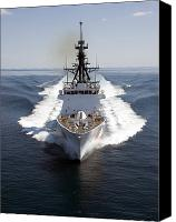 Demonstration Photo Canvas Prints - U.s. Coast Guard Cutter Waesche Canvas Print by Stocktrek Images