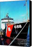 1987 Canvas Prints - US Coast Guard Ship Canvas Print by Thomas R Fletcher
