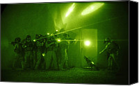 Insurgency Canvas Prints - Us Forces Demonstrate Entry Tactics Canvas Print by Everett