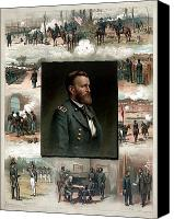 Point Canvas Prints - US Grants Career In Pictures Canvas Print by War Is Hell Store