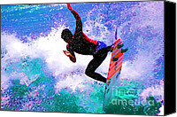 Kelly Slater Canvas Prints - US Open of Surfing 2012 Canvas Print by RJ Aguilar